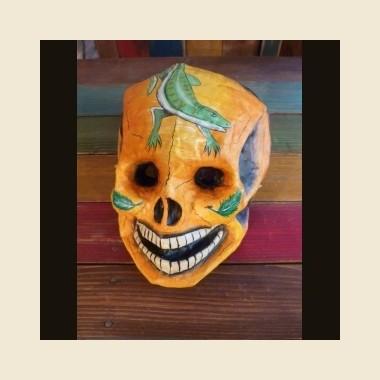 Masque péruvien en papier mâché