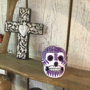 Crâne mexicain en porcelaine