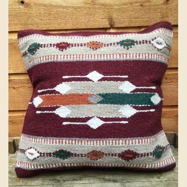 Coussin navajo en laine dessin flèches