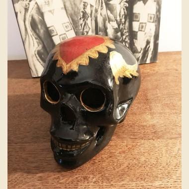 Crâne décoré main