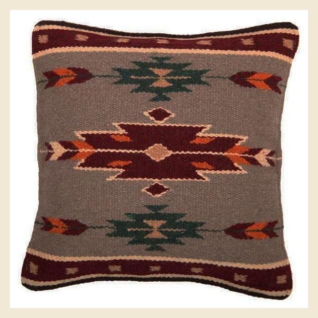 Coussin en laine Navajo