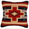 Coussin navajo grande croix rouge