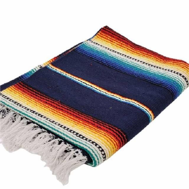 Hacienda style turquoise blanket